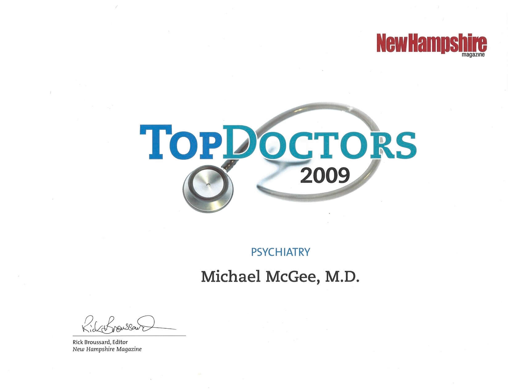 2009 Top Doctor Award